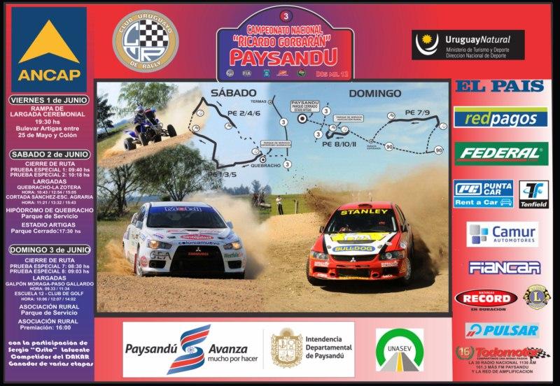 ¡Llega el Rally a Paysandú!
