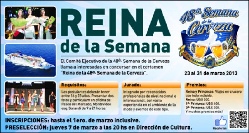 Reina Semana de la Cerveza en Paysandu - Como participar
