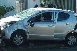 El casco le salvo la vida en Paysandu tras accidente de transito