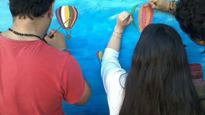 Intervencion Urbana en el Liceo N 1 Calle Silvan Fernandez