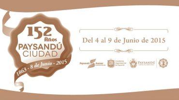 Programa de los festejos del Aniversario de Paysandu Ciudad 4 a 9 junio 2015